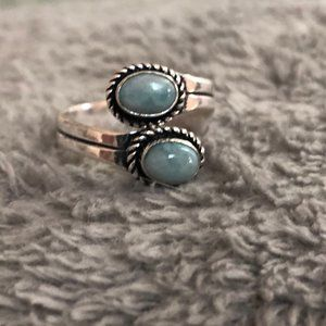 Jewelry - Natural Larimar Ring Adjustable Size